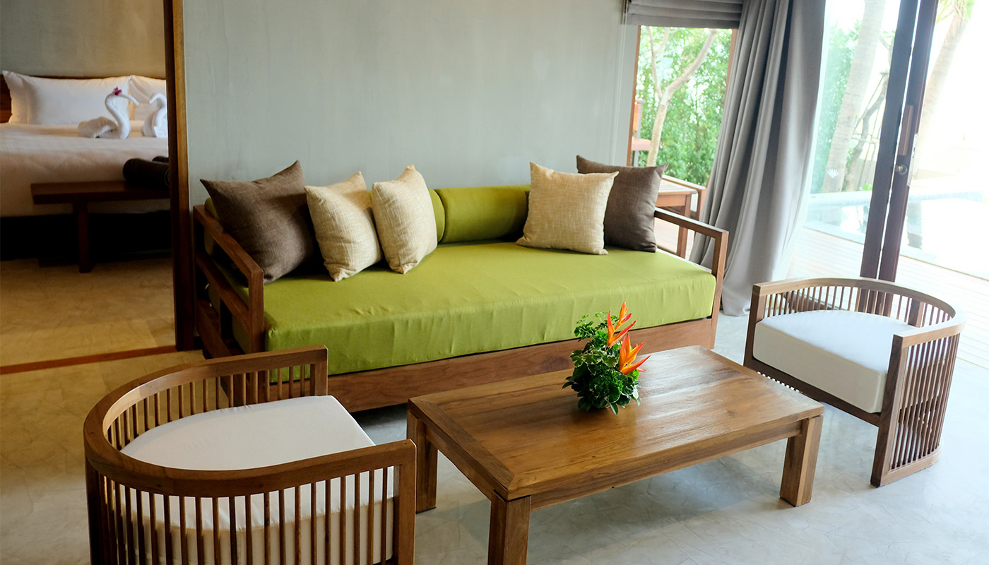 Beachfront Villa 2 Bedrooms with Private Pool - Banana Fan Sea Resort